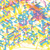 Pixel City, credit Hannah Hortick. Intended to be viewed with color-filters or 3D glasses. Image courtesy of Alexander Eisenschmidt.