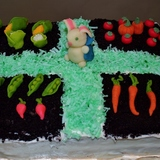 Version of Martha Stewart's Peter Rabbit-inspired Easter cake. Image via http://mamaguru.com.