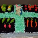 Version of Martha Stewarts Peter Rabbit-inspired Easter cake. Image via http://mamaguru.com.