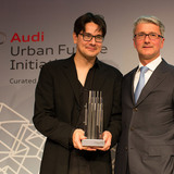 The Audi Urban Future Award 2012 is presented to Eric Höweler of Höweler+Yoon Architecture © Audi Urban Future Initiative