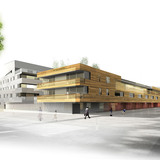 Rendering of the completed housing project (Image: Mateo Arquitectura)