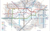 A new London Tube map shows walking times between stations