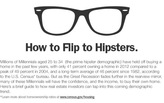 "Surveying the top cities to ""flip to hipsters"""