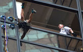 """Steve from Virginia"" attempts to scale Trump Tower with suction cups"