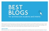 Best Blogs for Architecture Students and Interns