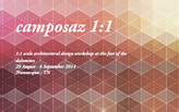 CAMPOSAZ 2014: 1:1 scale architectural design workshop at the feet of the dolomites