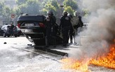 Paris erupts in riot as taxi drivers protest Uber