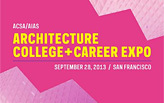 2013 Architecture College + Career Expo