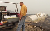Trial by fire: man waits out raging wildfires in concrete home