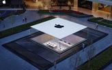 Istanbul's new ultra-minimal Apple Store showcases a seamess glass box protruding from the ground