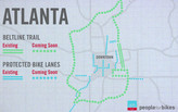 Atlanta plans big for bikes, and Atlantans turn out big time