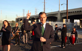 LA mayor Eric Garcetti slow-jams 101 freeway closure announcement