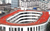 Chinese School puts running track on its roof