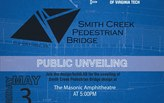 Join us for the Unveiling for the Smith Creek Pedestrian Bridge!!