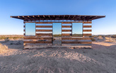 Lucid Stead by artist Phillip K. Smith III illuminates Joshua Tree, California