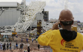 Three killed after partial stadium collapse at 2014 World Cup venue