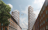 The latest details on OMA's Norra Tornen twin towers in Stockholm