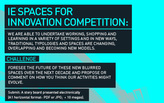 IE SPACES FOR INNOVATION PRIZE: Win a scholarship & much more!