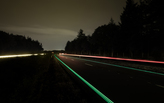 Glowing Smart Highway live in the Netherlands
