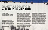 """Blight as Politics"" Symposium with Colin Gordon and Robert Fairbanks"