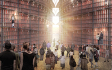 "One brick per Bible verse in Napp Studio's enormous, lightbulb-infused ""Archive of Light"""