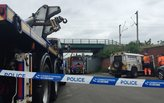 Five dead after eight metre concrete wall collapses in Birmingham, England