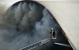 Niemeyer's Latin America Memorial building hit by fire in Sao Paulo