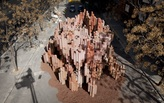 A battle is raging even you're not awared of it - cardboard pavilion for fallas festival