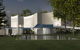 "Steven Holl designs ""concave response"" lighting for new visual arts building"