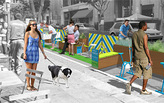 Spring Street Parklets - Grand Opening at Downtown LA Art Walk