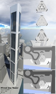Aerodynamic skyscraper
