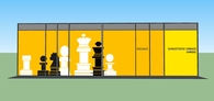 Front facade of Chess Society in Lamia
