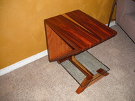 Rosewood End table Open Sides