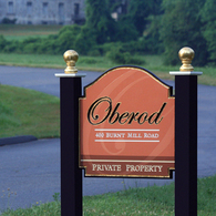 Oberod Estate sign
