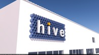 Signage design for Hive, an exhibits design and build firm.