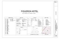 Figueroa Hotel Construction Documents Sheets (Downtown Los Angeles )