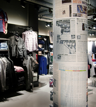 Magazine collage - Brothers Clothing stores