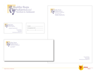 Healthy Steps Logo and Letterhead Package