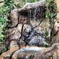 Waterfalls and Retaining Wall