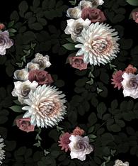 Dark Flowers - Wallpaper pattern