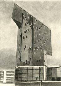 Freehand Drawing, Casino Knokke (Steven Holl)