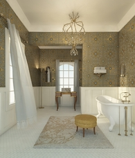 Hollywood Regency Bath