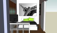 Interior design of a student apartment, Thessaloniki, Greece