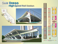 San Diego High Speed Rail Station-Long span Design