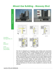 Mixed-Use Urban Design Proposal for Maxwell Boulevard