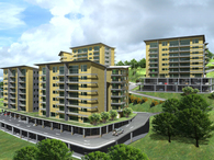 Apartment complex Project. 5 buildings - 155 apartments - 594,673 SF
