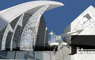 Richard Meier's Jubilee Church CAD Collage