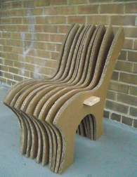 Cardboard Chair - No Adhesive
