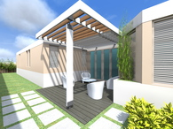 Cardona Terrace & Trellis Design