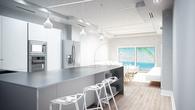 Open Living Room Kitchen Concept